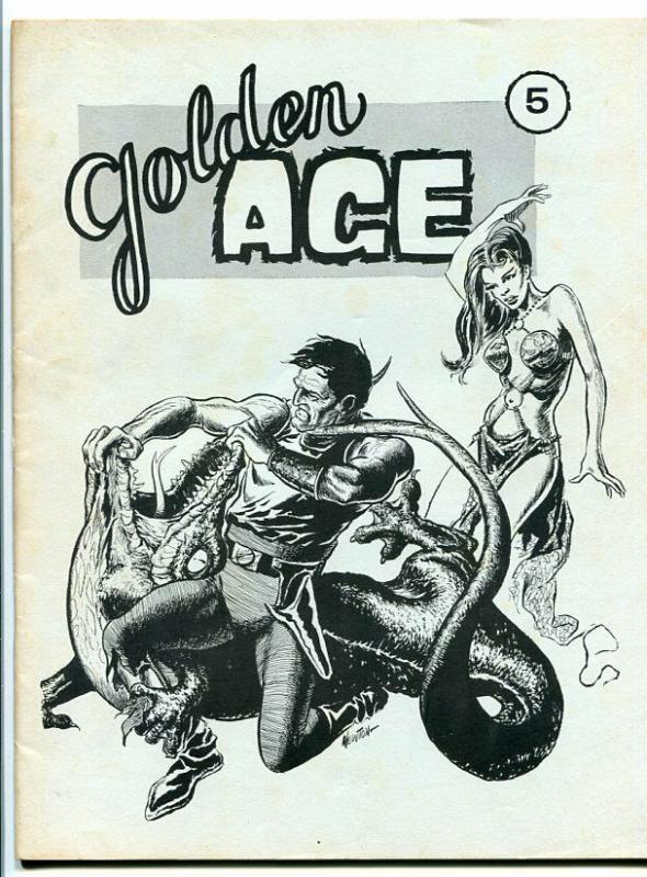GOLDEN AGE-#5-FAN ZINE-FLASH GORDON-EC-TOP NOTCH-DON NEWTON-SUPERHEROES