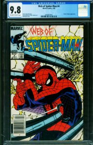 WEB OF SPIDER-MAN #4 CGC 9.8 Newsstand cover 2038827001