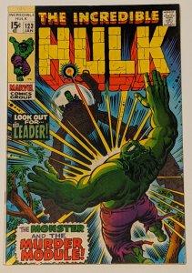 The Incredible Hulk #123 (Jan 1970, Marvel) VG/FN 5.0 F. F. And Leader app