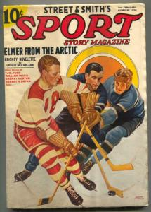 Sport Story Pulp 2nd February 1938- Hockey cover VG