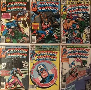 CAPTAIN AMERICA 1980 MARVEL #247-253!MOST ARE VERY FINE. 1-VERY GOOD.7 BOOK LOT