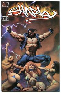 SHARKY #1 2 3 4, NM, Signed by Alex Horley, 1998, more in store, 1-4, A set