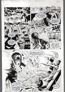 TOD SMITH-ELVIRA #152-HOLIDAY HUMBUG-ORIGINAL ART PAGE 4--QUEEN 'B' PROD FN