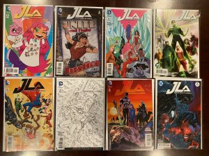 Justice League of America Variant Comic Lot 9 Diff #2-10 8.0VF (2015)
