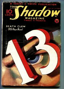 SHADOW 1934 May 15 -Great cover - STREET AND SMITH-RARE PULP vg+