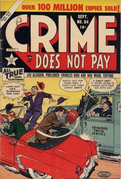 Crime Does Not Pay #114, VG+ (Stock photo)