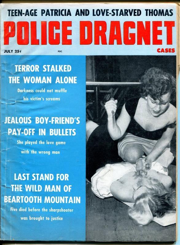 Police Dragnet Cases 7/1960-murder-terror-mystery-girl fight cover-VG