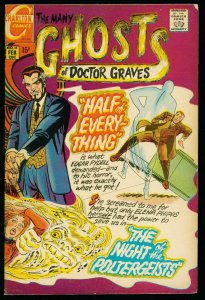 THE MANY GHOSTS OF DOCTOR GRAVES #18 1970-CHARLTON COMICS-DITKO ART- FN