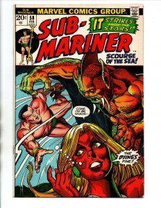 Sub-Mariner #58 - 1st Tamara - KEY - Gil Kane - 1973 - (-VF)