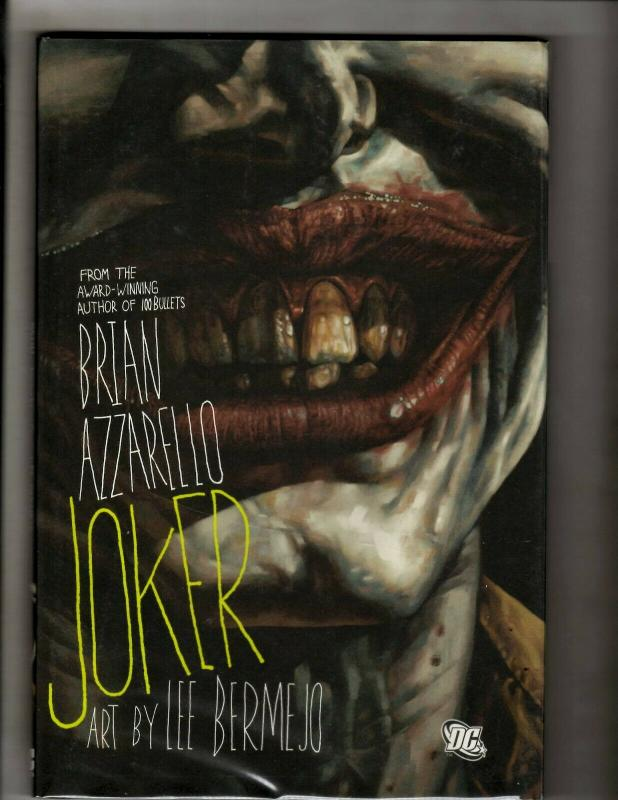 JOKER DC Comics Graphic Novel Hardcover 1st Print Batman Brian Azzarello SM8