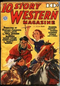 10 STORY WESTERN--JULY 1937-WILD BUNCH & BUTCH CASSIDY STORY-VIOLENT-PULP