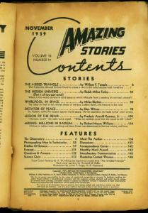 Amazing Stories Pulp November 1939- William F Temple-  Reading Copy
