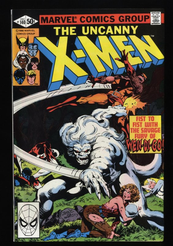 X-Men #140 NM 9.4 Wendigo! Marvel Comics