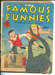 Famous Funnies #83 1941-Octopus attack cover-Buck Rogers-Scorchy Smith-P/FR