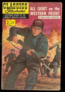 CLASSICS ILLUSTRATED #95 HRN 96-ALL QUIET WESTERN FRONT VG
