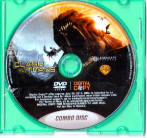 2019's Clash of the Titans DVD ONLY !