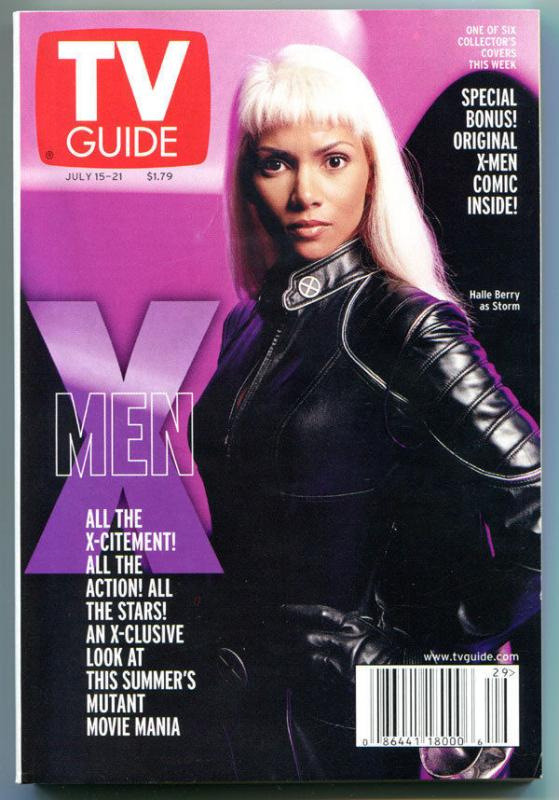 X-MEN TV guide, Halle Berry, Storm, Mutant, July 15-21 2000, X-men more in store