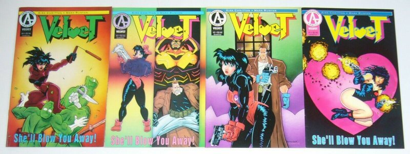 Velvet #1-4 VF/NM complete series - adventure comics bad girl w/gun set lot 2 3