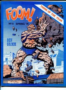 FOOM #51974-early Marvel Comics fanzine-Jack Kirby-Marvel's Greatest heroes-VF