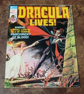 Dracula Lives #12 VF- 1975 Horror Magazine Tale of Terror Parchment of Blood