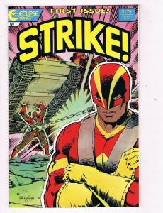 Strike #1 VF Eclipse Comics Comic Book Dixon 1987 DE40 AD14