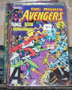 Avengers # 246 (Aug 1984, Marvel) starfox the eternals sersi she-hulk thor***