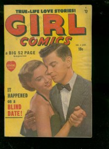 GIRL COMICS #2 1950-JOE KUBERT ART-ATLAS/MARVEL ROMANCE FN-