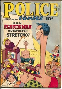 Police #69 1947-Quality-Plastic Man-Spirit Jack Cole art-Manhunter-VG