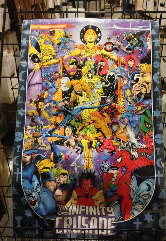INFINITY CRUSADE POSTER! STARLIN! THANOS! 22x34 rolled Cavalcade of Stars