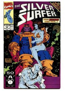 Silver Surfer #56 1991 Infinity Gauntlet Thanos Marvel.