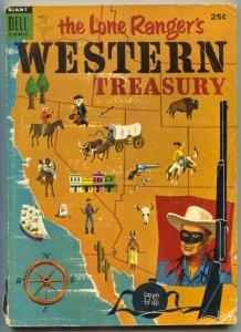 Lone Ranger's Western Treasury #2 1954-DELL GIANT- Tonto VG-