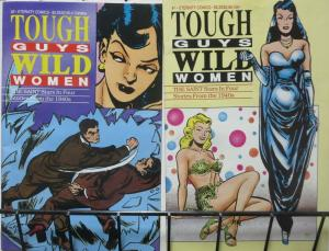 TOUGH GUYS AND WILD WOMEN #1-2, COMPLETE! Golden Age Saint Reprints by W.Johnson
