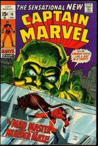 CAPTAIN MARVEL #19 1969-MARVEL COMICS-GIL KANE FN