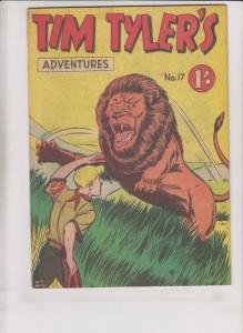 Tim Tyler's Adventures #17 FN photo-type press - silver age comic - australia?