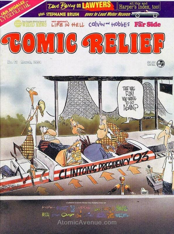 Comic Relief (magazine) #61 VF/NM; Page One | save on shipping - details inside