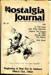 Nostalgia Journal #27 8/1976-Frank Frazetta-Gary Groth-Alan Light-VG