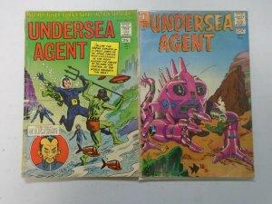 Undersea Agent #1+5 4.0 VG (1966 Tower Comics)