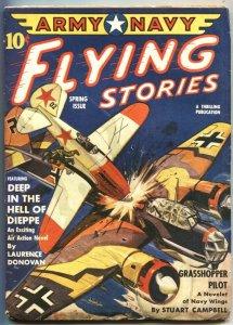 ARMY NAVY FLYING STORIES-SPG 1943-BELARSKI NAZI BOMBER COVER-CANNIBALS