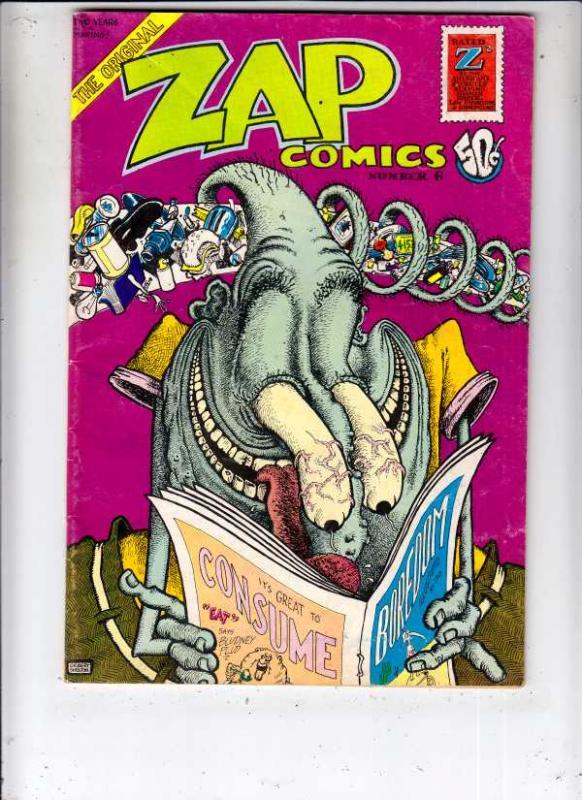 Zap #6 (Jan-73) FN+ Mid-High-Grade Mr. Natural, Flaky Foont, Star-Eyed Stella...