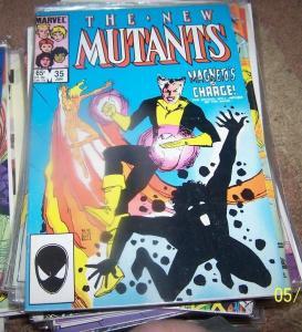 NEW MUTANTS  # 35  1986  marvel   X MEN   magneto