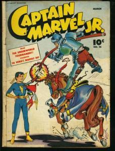 CAPTAIN MARVEL JR. #36-FAWCETT-GOLDEN AGE VG