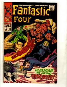Fantastic Four # 63 VF- Marvel Comic Book Silver Age Thing Human Torch Doom GK1