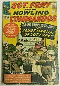SGT. FURY#7 FR/GD 1964 MARVEL SILVER AGE COMICS
