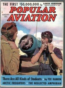 Popular Aviation 8/1939-aviation pix & info -pulp thrills-FN