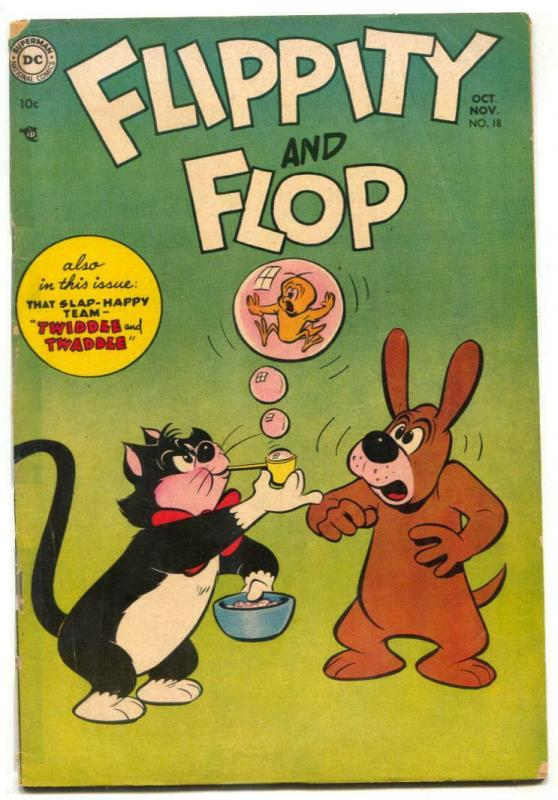 Flippity And Flop #18 1954- DC Funny Animal comic VG-
