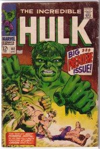 Incredible Hulk   vol. 1   #102 GD Friedrich/Severin, first issue