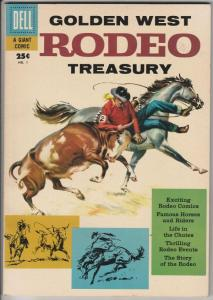 Dell Giant Golden West Rodeo Treasury #1 (Oct-57) VF/NM Affordable-Grade
