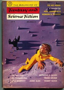 MAGAZINE OF FANTASY AND SCIENCE FICTION-March 1955-Science Fiction Pulp Thrills