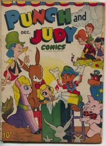 Punch and Judy #5 1945-Hillman-dinosaur full page -Tony DiPreta art-G