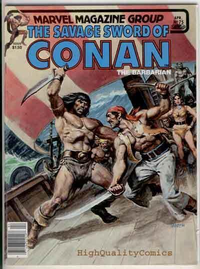 SAVAGE SWORD of CONAN #75,  FN+, Chiodo, Pirates, Alcala, Robert E Howard